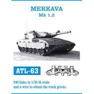 Траки металл MERKAVA Mk.I, II масштаб 1:35 FRIULMODEL ATL-35-63, фото 1