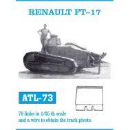 Траки металл RENAULT FT-17 масштаб 1:35 FRIULMODEL ATL-35-73, фото 1