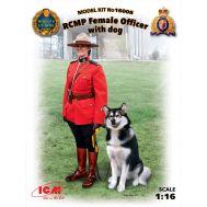Офицер Королевской Канадской Конной Полиции с собакой масштаб 1:16 ICM16008, фото 1