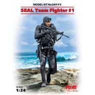 Боец группы SEAL №1 масштаб 1:24 ICM24111, фото 1