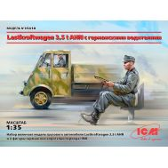 Lastkraftwagen 3,5t AHN с водителями масштаб 1:35 ICM35418, фото 1