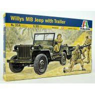 Willys MB Jeep масштаб 1:35 Italeri IT314, фото 1