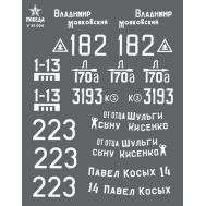 Маркировка танков Т-34-85, ВОВ, набор 1, масштаб 1:35 V35004, фото 1