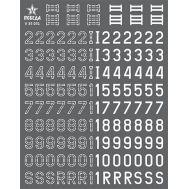 Цифры для бронетехники. Вар.1, вар.2(обводка) (7,56мм), Германия, 1:35, V35031, фото 1