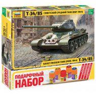Подарочный Набор Советский средний танк Т-34/85 масштаб 1:35 ZV3687P, фото 1