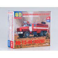 Пожарная цистерна АЦ-7,5-40 (4320) (KIT) металл масштаб 1:43 1299AVD, фото 1