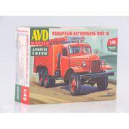Пожарный автомобиль ПМЗ-16 (KIT) металл масштаб 1:43 1327AVD, фото 1