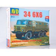 Армейский грузовик 34 6x6 (KIT) металл масштаб 1:43 1390AVD, фото 1
