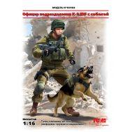 Офицер подразделения K-9 IDF с собакой масштаб 1:16 ICM16102, фото 1