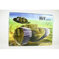 Английский тяжелый танк Mk.V (composite) 1МВ масштаб 1:35 Interus INT3501, фото 1