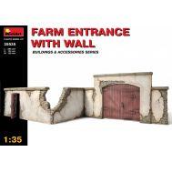 Забор фермы с въездом масштаб 1:35 MiniArt MiA35535, фото 1