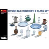 Набор бытовой посуды и стаканов масштаб 1:35 MiniArt MiA35559, фото 1