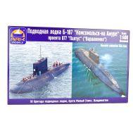 Подводная лодка Комсомольск-на-Амуре пр.877 Варшавянка 1:400 ARK Model ARK40016, фото 1
