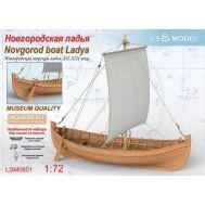 Новгородская морская ладья XII-XIII века масштаб 1:72 LSM0801, фото 1