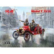 Американский пожарный автомобиль Model T 1914 Fire Truck с экипажем масштаб 1:24 ICM24017, фото 1