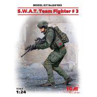 Боец группы S.W.A.T. №3 масштаб 1:24 ICM24103, фото 1