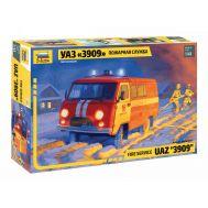 УАЗ 3909 Пожарная служба масштаб 1:43 ZV43001, фото 1