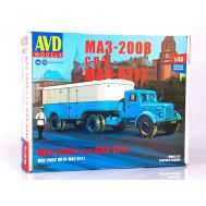 МАЗ-200В с полуприцепом МАЗ-5217 (KIT) металл масштаб 1:43 7058AVD, фото 1