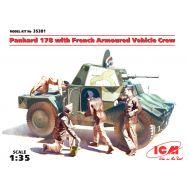 Panhard 178 с французским экипажем бронеавтомобиля масштаб 1:35 ICM35381, фото 1