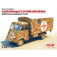 Lastkraftwagen 3.5 AHN с будкой, санитарная, ІІ МВ масштаб 1:35 ICM35417, фото 1