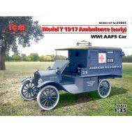 Model T 1917 санитарная, (раннего выпуска) I МВ масштаб 1:35 ICM35665, фото 1