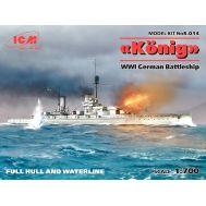Германский линейный корабль Кениг І МВ масштаб 1:700 ICMS014, фото 1