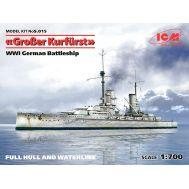 Германский линейный корабль Гроссер Курфюрст І МВ масштаб 1:700 ICMS015, фото 1