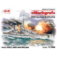 Германский линейный корабль Маркграф І МВ масштаб 1:700 ICMS017, фото 1