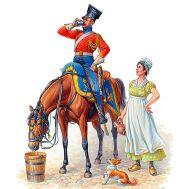 Красный улан Наполеона масштаб 1:32 MB3209, фото 1
