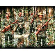 Морские пехотинцы США в джунглях, 2МВ масштаб 1:35 MB3589, фото 1