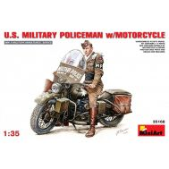Американский полицейский с мотоциклом масштаб 1:35 MiA35168, фото 1