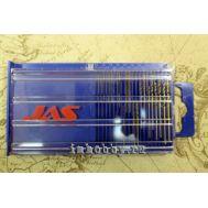 Набор из 20 сверл от 0,3 мм до 1,6 мм HSS M35, JAS4279, фото 1