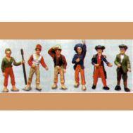 Набор из 6-ти фигурок моряков, масштаб 1/64, металл MA7161, фото 1