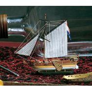 GOLDEN YACHT корабль в бутылке масштаб 1:300 AM1350-рус, фото 1