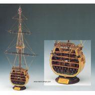 HMS VICTORY сечение масштаб 1:98 SM24-рус, фото 1
