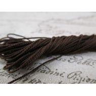 Канат, 0,7мм, ручная работа, темно-коричневый, 5м полиэфирный HP307, фото 1