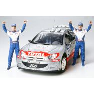 Peugeot 206 WRC 2002 Winner Version масштаб 1:24 Tamiya 24262, фото 1