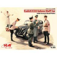 Kadett K38 седан, с Германской дорожной полицией масштаб 1:35 ICM35480, фото 1