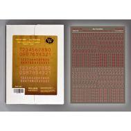 Немецкие номера для техники. Вариант 1. Красные. Wilder HDF-DT-3505, фото 1