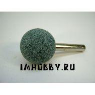 Шарошка абразивная карбид-кремниевая сфера 25мм 1шт, хвостовик 6мм IMF36974, фото 1