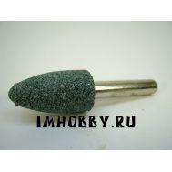 Шарошка абразивная карбид-кремниевая цил. остр. 14х25мм 1шт, хвост. 6мм IMF36980, фото 1