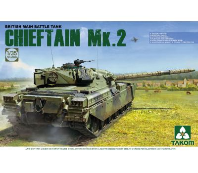 Британский основной танк Chieftain Mk.2 масштаб 1:35 Takom TAK2040, фото 1