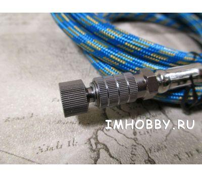 Шланг для компрессора 1,8м G1/8 x G1/8 с быстр. муфтой JAS1423, фото 2