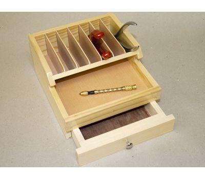 Деревянный органайзер на 9 секций с ящиком, 175х195х95 мм 0WI-PS1, фото 1