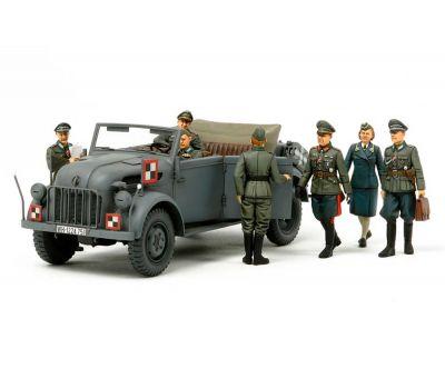 Штабная машина Steyr Type 1500A Kommanderwagen с 7 фигурами масштаб 1:35 Tamiya 25149, фото 1