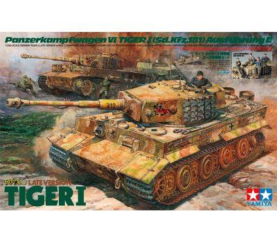 Немецкий танк Tiger I Late Version с экипажем масштаб 1:35 Tamiya 25401, фото 1