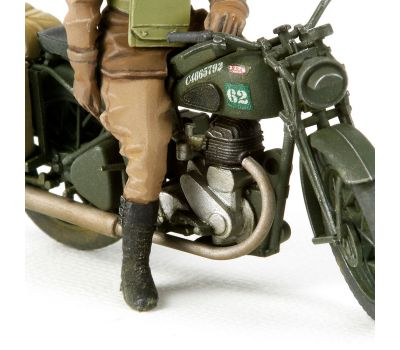 Английские полицейские (2 фигуры) с мотоциклом BSA M20 масштаб 1:35 Tamiya 35316, фото 2