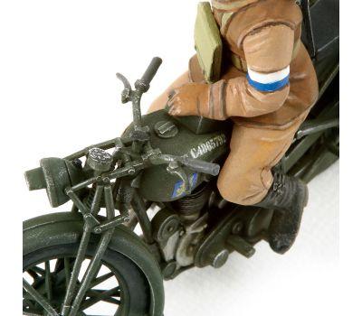 Английские полицейские (2 фигуры) с мотоциклом BSA M20 масштаб 1:35 Tamiya 35316, фото 3