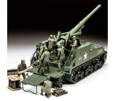 Американская САУ Self-Propelled 155mm Gun M40 с расчетом 8 фигур масштаб 1:35 Tamiya 35351, фото 9