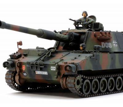 Немецкая САУ M109A3G BUNDESWEHR с фигурой командира масштаб 1:35 Tamiya 37022, фото 4